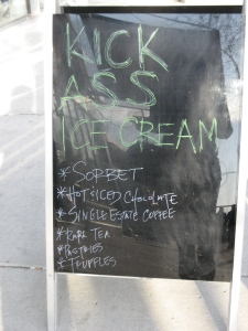 Ice cream headlined at local cafes.