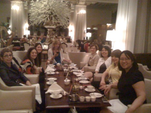 A whole table of fancy ladies. Did I mention I took these photos with my non-3Gs iPhone?
