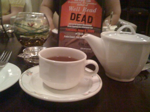 Wild blueberry tea, thank you very much.
