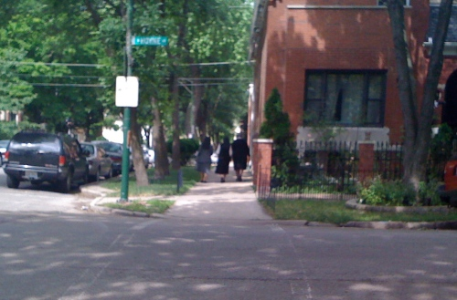 Just three nuns strolling the streets of Ukrainian Village.