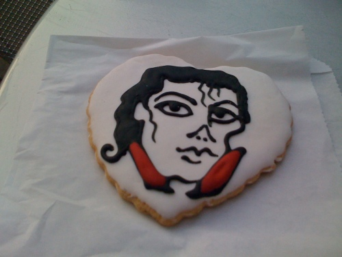Fittingly, MJ looks like a corpse on the cookie.