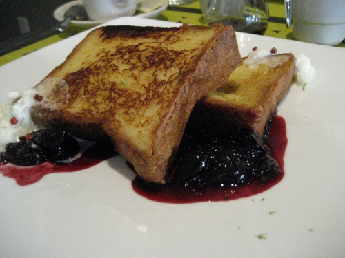 I don't even really like French toast. I prefer savory breakfasts. However, this malted custard French toast served with homemade jam (of course) was to die for.