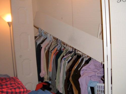 Yeah so the closet fell...
