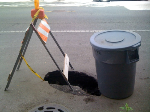 Potholes that could render a missing person.