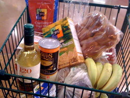 The grocery cart. Featuring joe's art direction and my blurry photographic style.