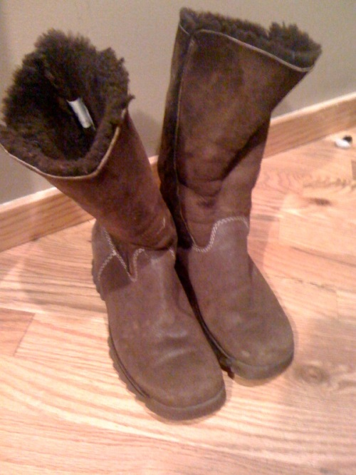 These snow boots become semi-permanent in my wardrobe